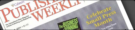 Photo of Publishers Weekly magazine, March 2001, which featured The Business of Winning on its cover